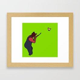 indian hunter Framed Art Print