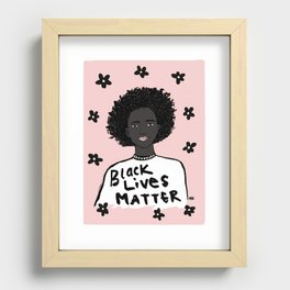 Black Lives Matter Recessed Framed Print