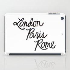 London Paris Rome iPad Case