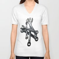 tool V-neck T-shirts featuring Tool by LewisLeathers