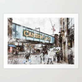Camden, London Art Print
