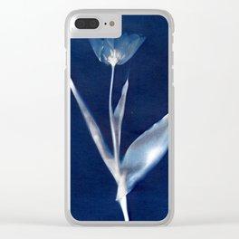 Tulip I - Cyanotype Clear iPhone Case