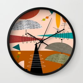 Mid-Century  Modern Space Age Wall Clock