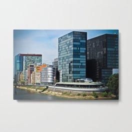 Düsseldorf, Germany Cityscape Metal Print