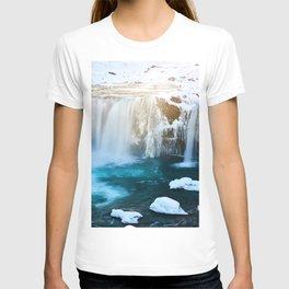 Glacier Waterfall (Color) T-shirt