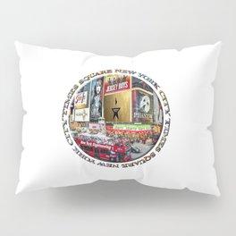 Times Square New York City (badge emblem on white) Pillow Sham