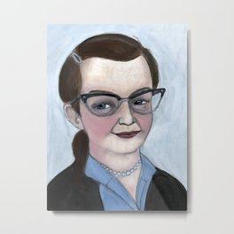 """The Haunting of Shirley"", Shirley Jackson Literary Portrait Metal Print"