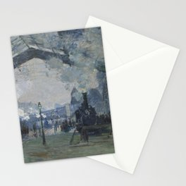 Arrival of the Normandy Train, Gare Saint-Lazare by Claude Monet (1877) - Fine Art Collection Stationery Cards