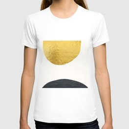 Golden sun warms the cold planet T-shirt