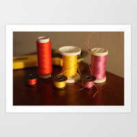 sewing Art Prints featuring Sewing notions by in my closet