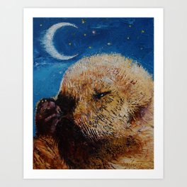 Sea Otter Pup Art Print