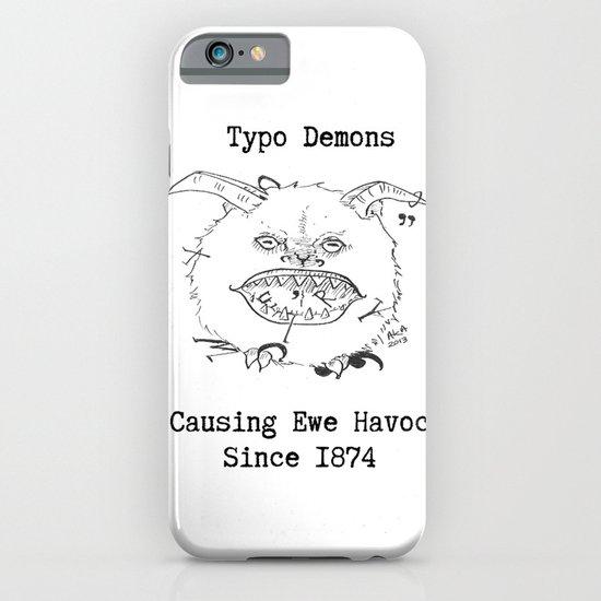 Typo Demons iPhone & iPod Case