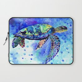 Sea Turtle, Underwater Scene Laptop Sleeve