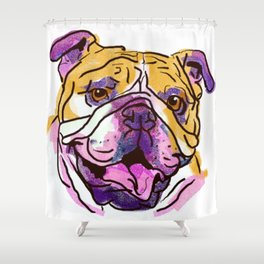 The Bully is the happy Love of my Life! Shower Curtain