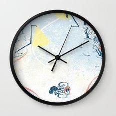 Winter Cycling Wall Clock