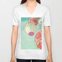 carnival V-neck T-shirts featuring Carnival  by Scarlett Ella