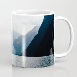 Misty Lake in the Alps Coffee Mug