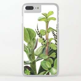 Watercolor Succulents Clear iPhone Case