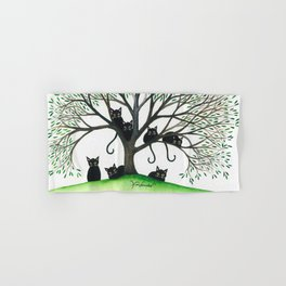 Borders Whimsical Cats in Tree Hand & Bath Towel