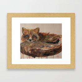 Fox- Drip Painting Framed Art Print