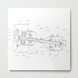 Patent Drawing: Drive Train I Metal Print