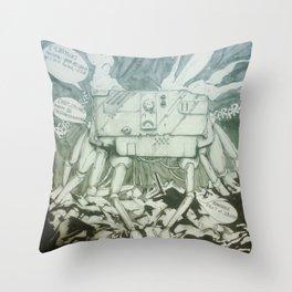 Junkbot Throw Pillow