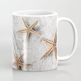 Vintage  Nautical Chart And Starfish Coffee Mug