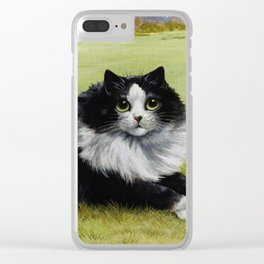 Black & White Kitty - Louis Wain Cats Clear iPhone Case