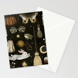 october nights Stationery Cards