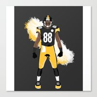 steelers Canvas Prints featuring Steel Curtain - Emmanuel Sanders by IllSports