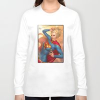 supergirl Long Sleeve T-shirts featuring Supergirl by kody