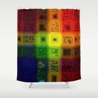 matrix Shower Curtains featuring Abdon Matrix by RingWaveArt
