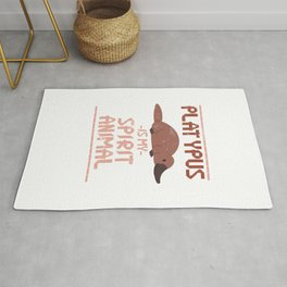 Platypus Is My Spirit Animal Rug