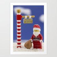 santa Art Prints featuring Santa by Pedro Nogueira
