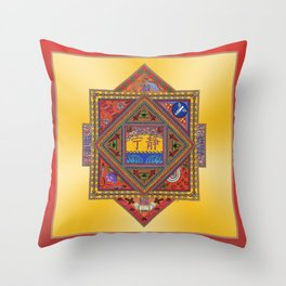 Meditation on Serenity (gradient gold) Throw Pillow