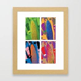 POP Corn Framed Art Print