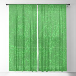 Neon Green Alien DNA Plasma Swirl Sheer Curtain