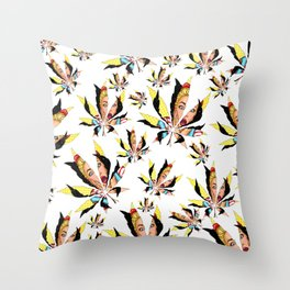 Shy face universe weed sex position - Space life Throw Pillow