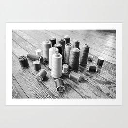 Thread B&W Art Print