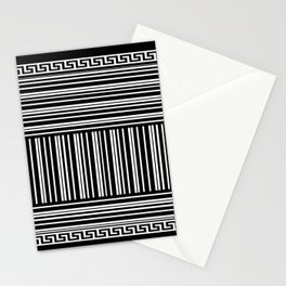 Greek Key - Barcode Stationery Cards