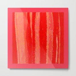 Red Hot Cactus Metal Print