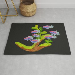 Fresh water fish and plants 2 Rug