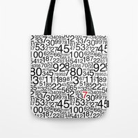 numbers Tote Bags featuring Numbers by Marissa Regelin