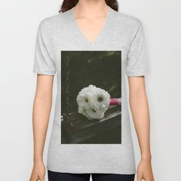 Bouquet of white flowers Unisex V-Neck