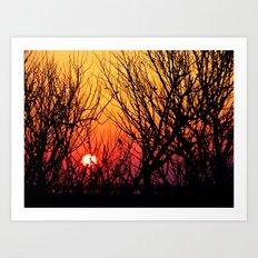 Delaware Sunset Art Print