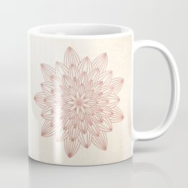 Mandala Blossom Rose Gold on Cream Coffee Mug