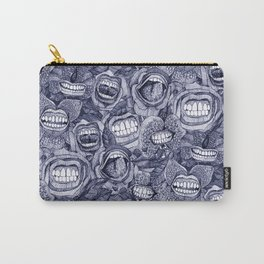 BITE ME roses and orchids INDIGO Carry-All Pouch
