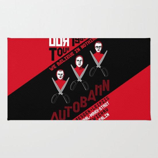 Autobahn--East German Tour 1982 Rug