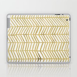 Gold Herringbone Laptop & iPad Skin