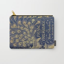 Pride and Prejudice by Jane Austen Vintage Peacock Book Cover Carry-All Pouch